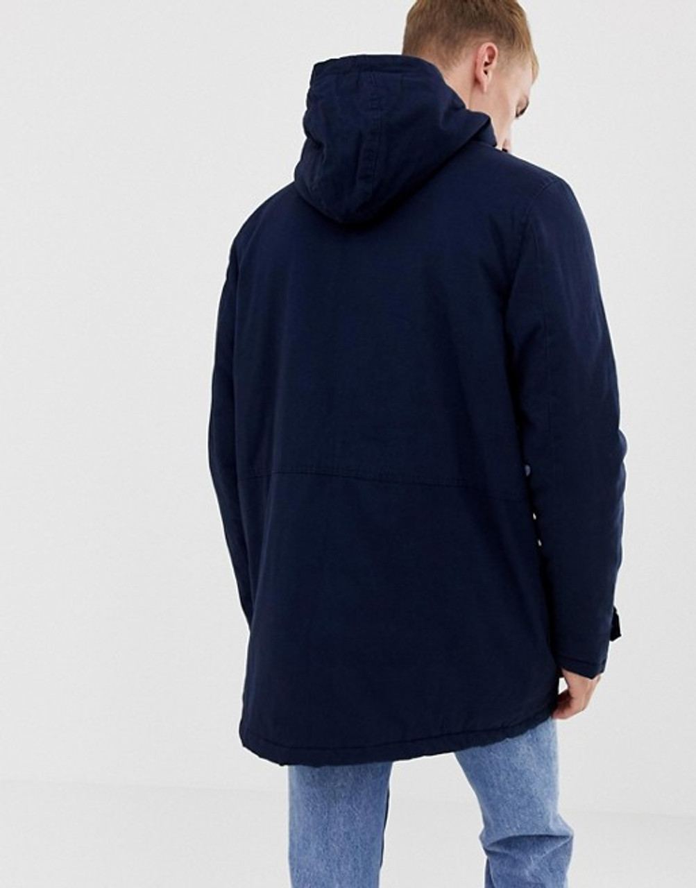 Borg Lined Hooded Parka Jacket