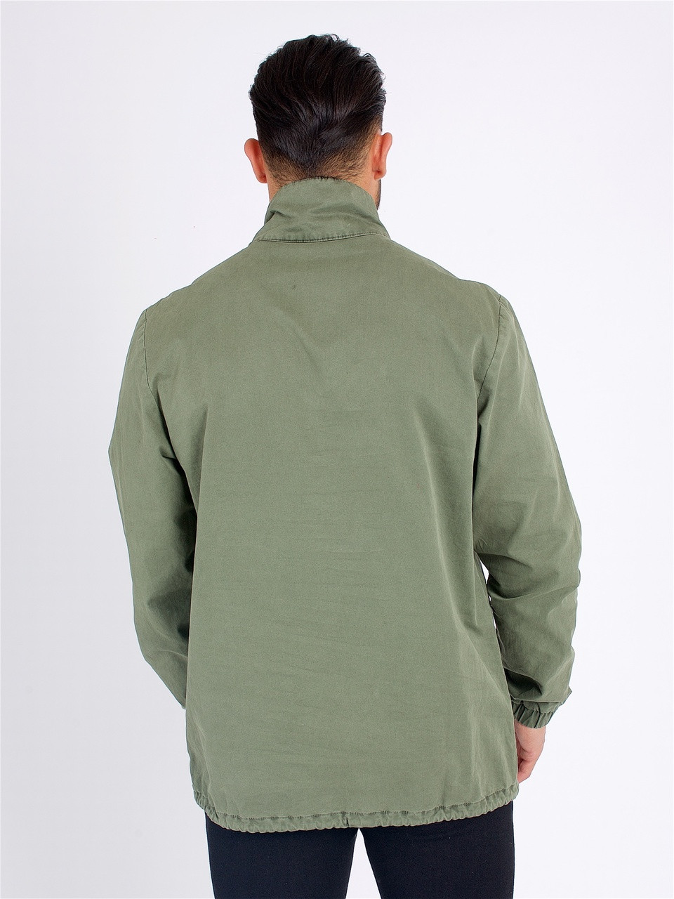 Khaki Front Pocket Full Sleeve Jacket