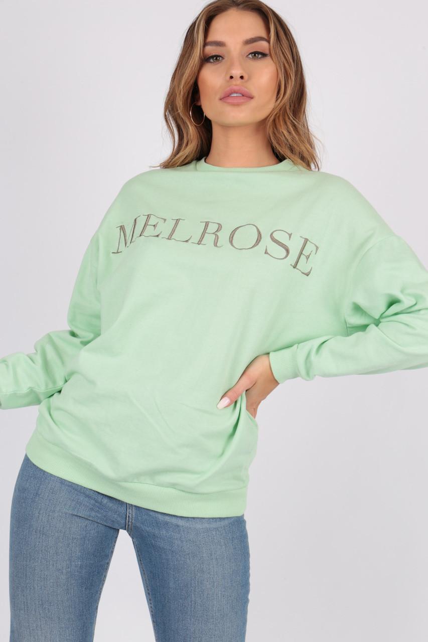 Melrose Slogan Oversized Sweat Top