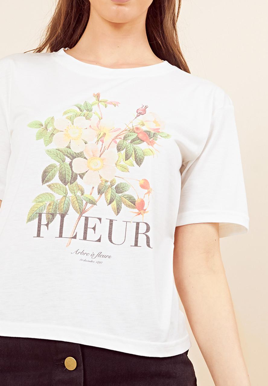 Fleur Print T Shirt
