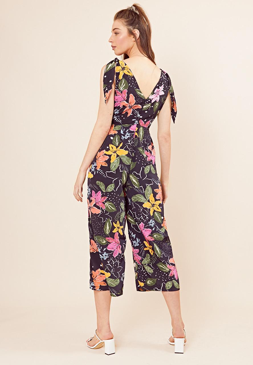 Selena Floral Tie Detail Jumpsuit