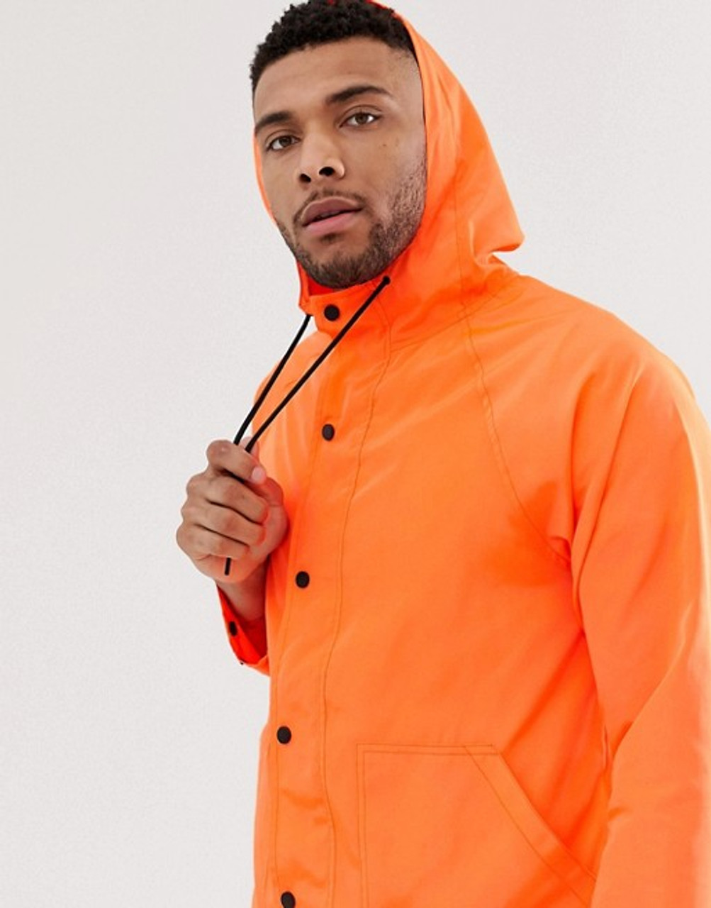Orange festival  rain jacket