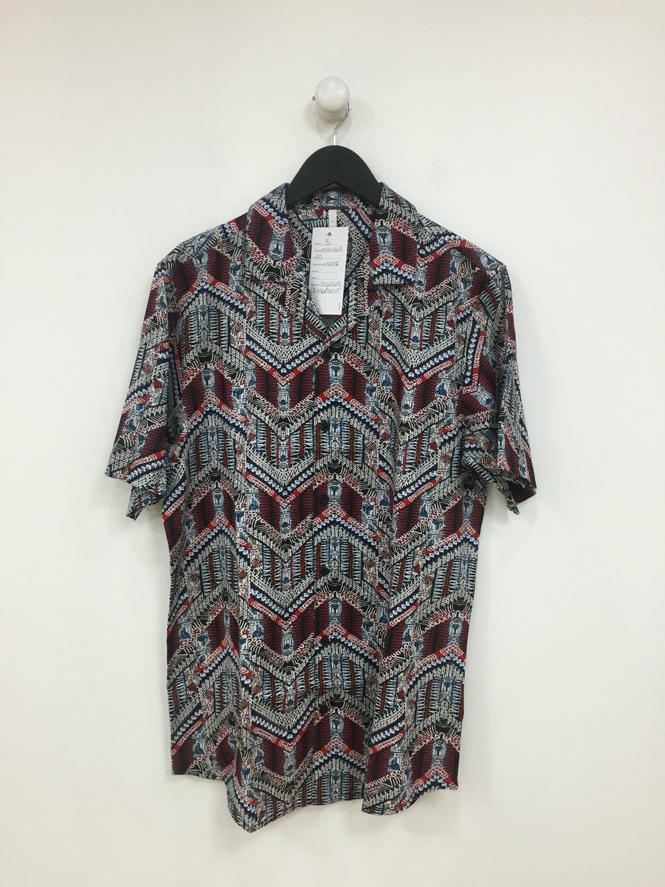 Co-ord Aztec Print Revere Collar Short Sleeve Shirt