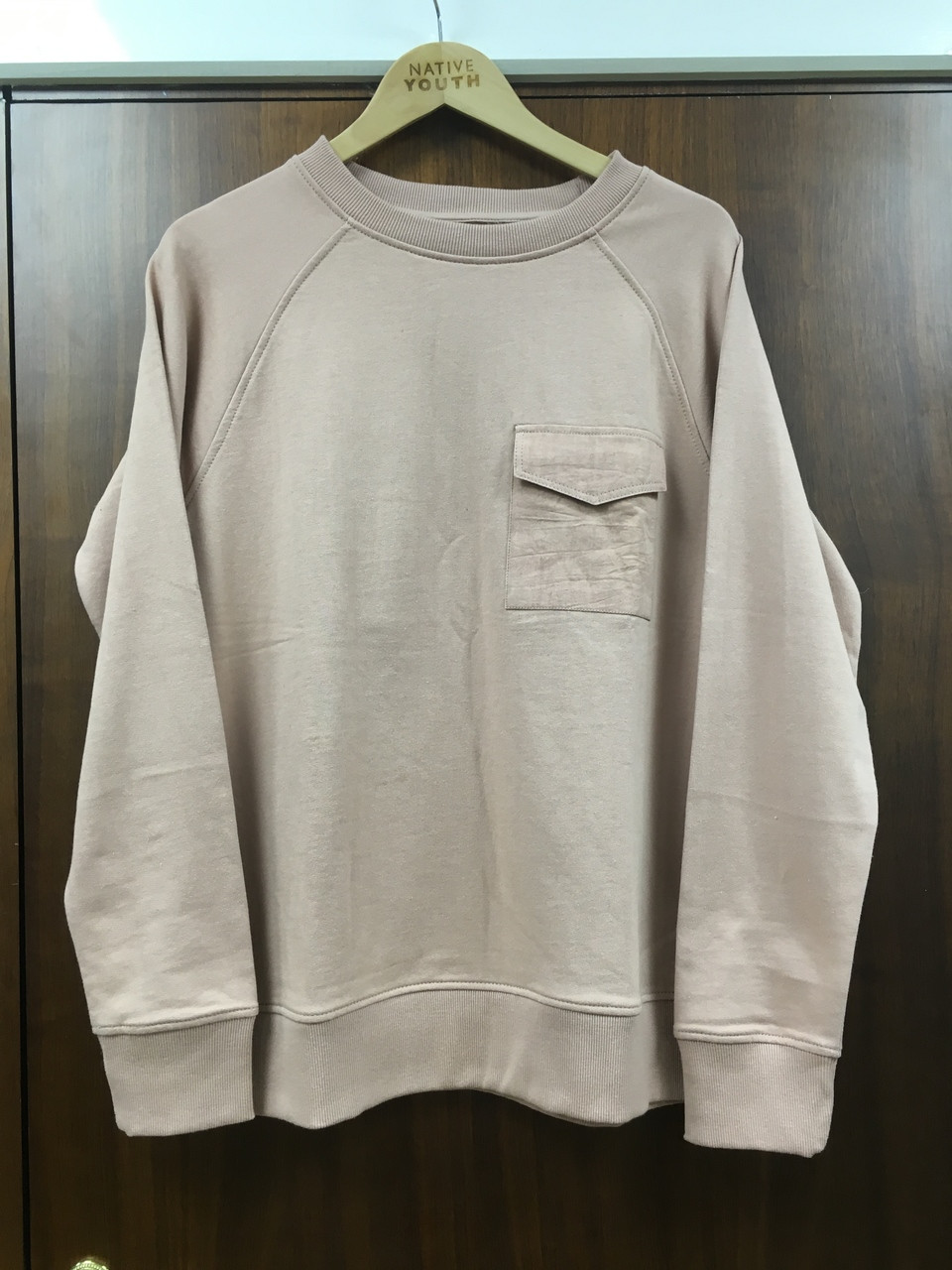 Dark khaki colour Top With Front Pocket