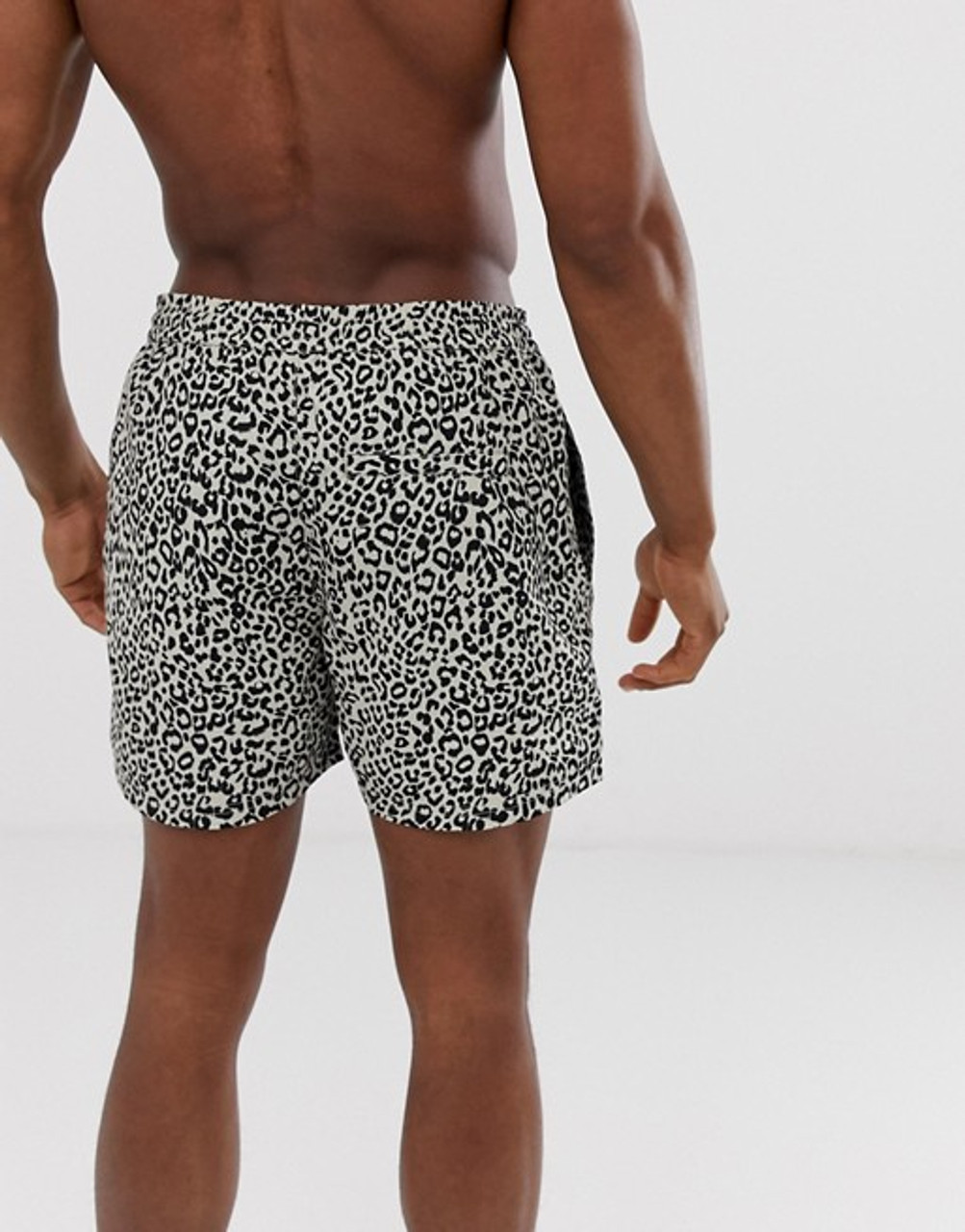 Leopard Print Swim Shorts