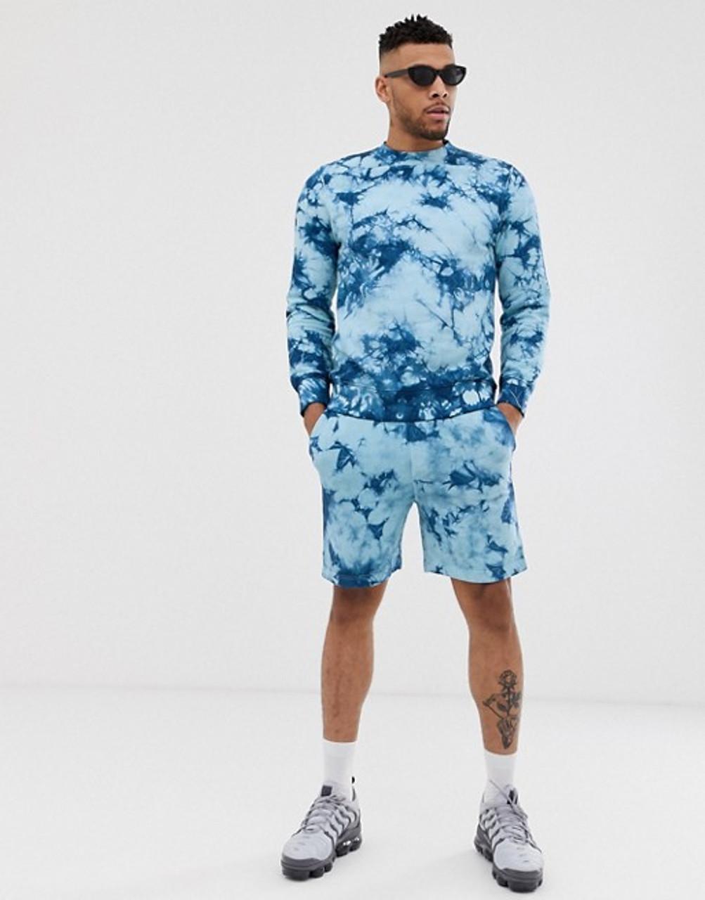 Tie Dye Sweat Shorts Co-ord