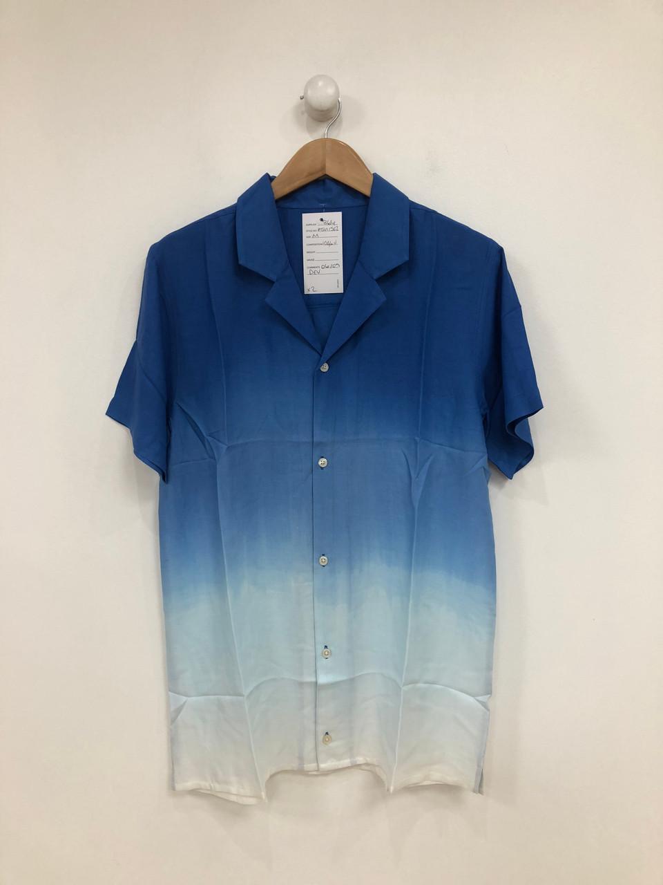 Dip Dye Short Sleeve Revere Collar Shirt