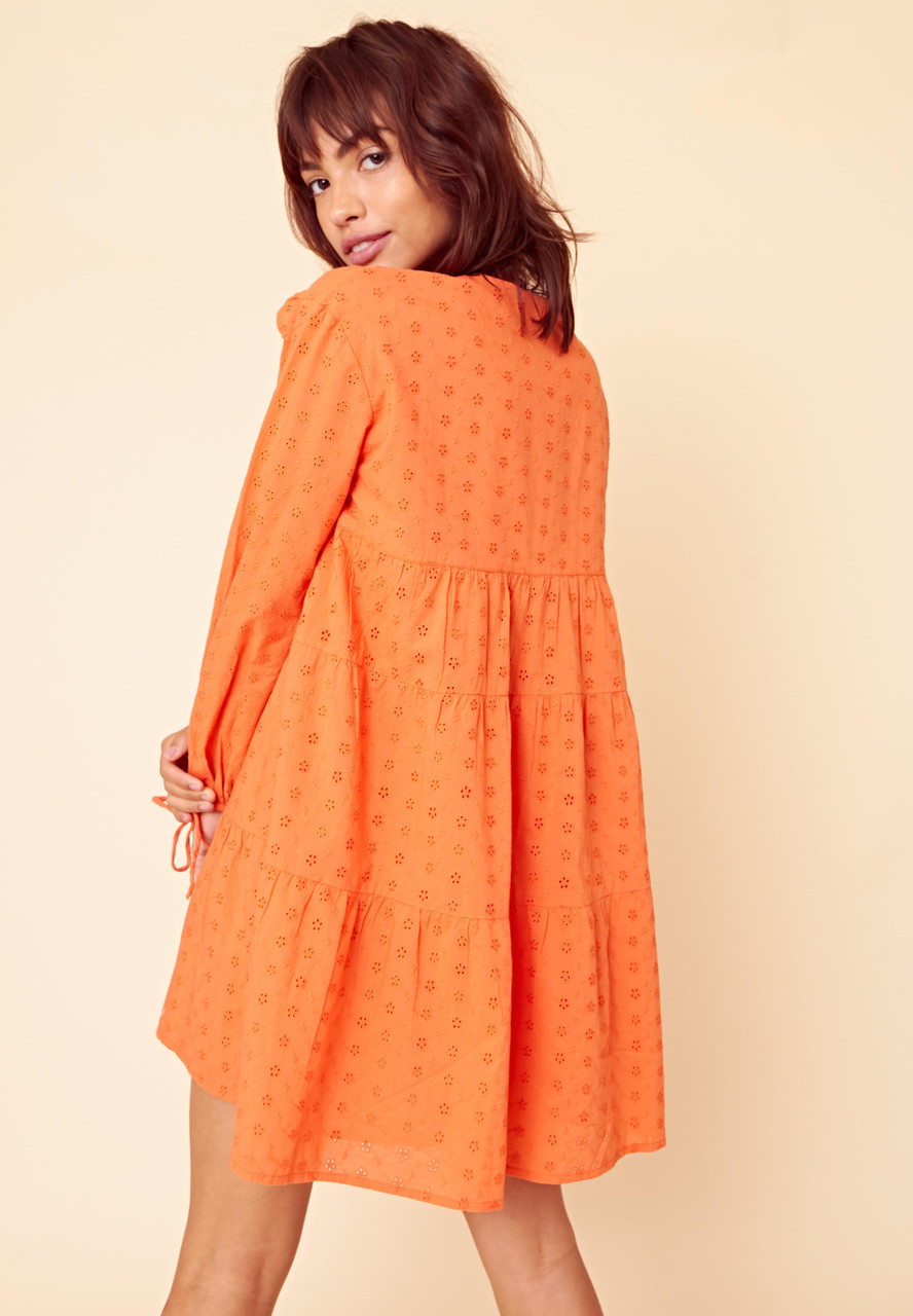 Borderie Tiered Smock Dress