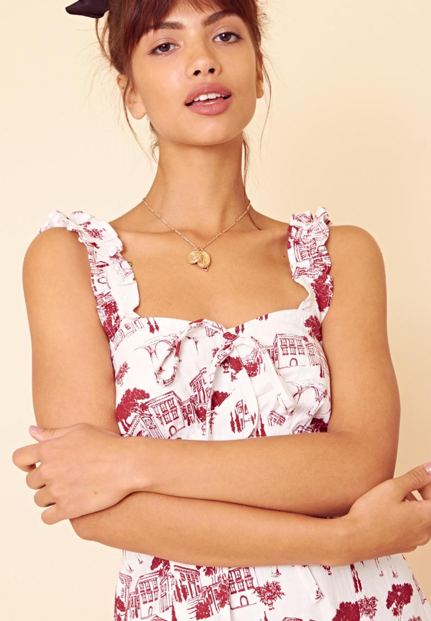 Brigitte Convo Strap Midi Dress