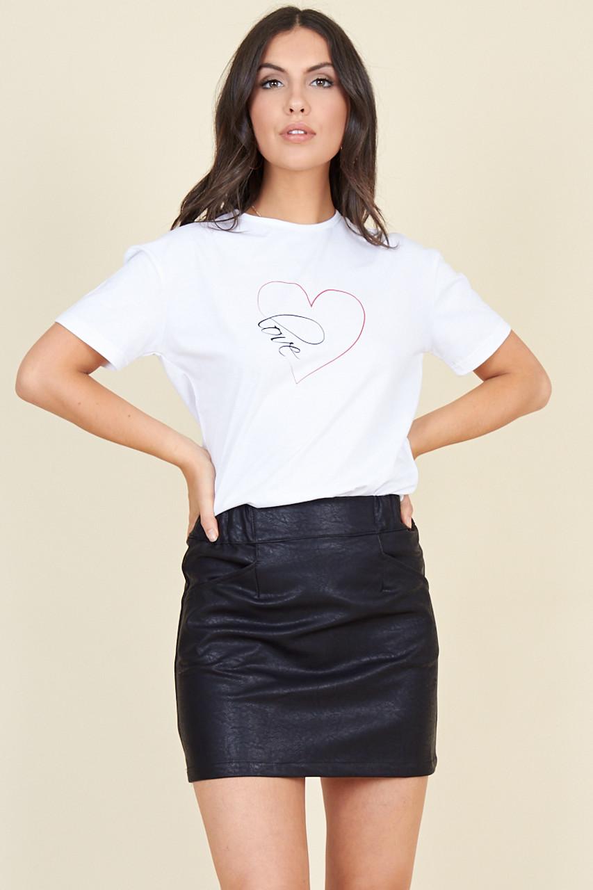 Black Matt Pu Mini Skirt
