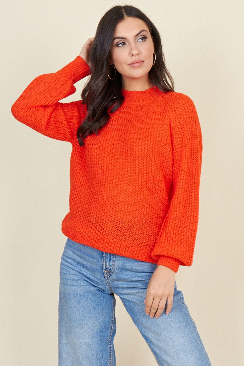 Red Soft Cable Knit Jumper