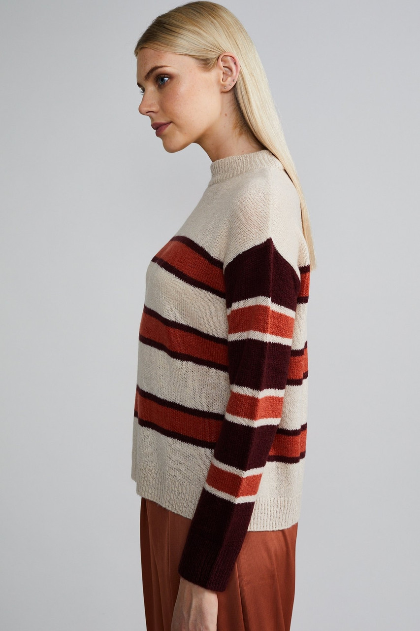 Native Youth Stripe Crew Neck Knitted Jumper