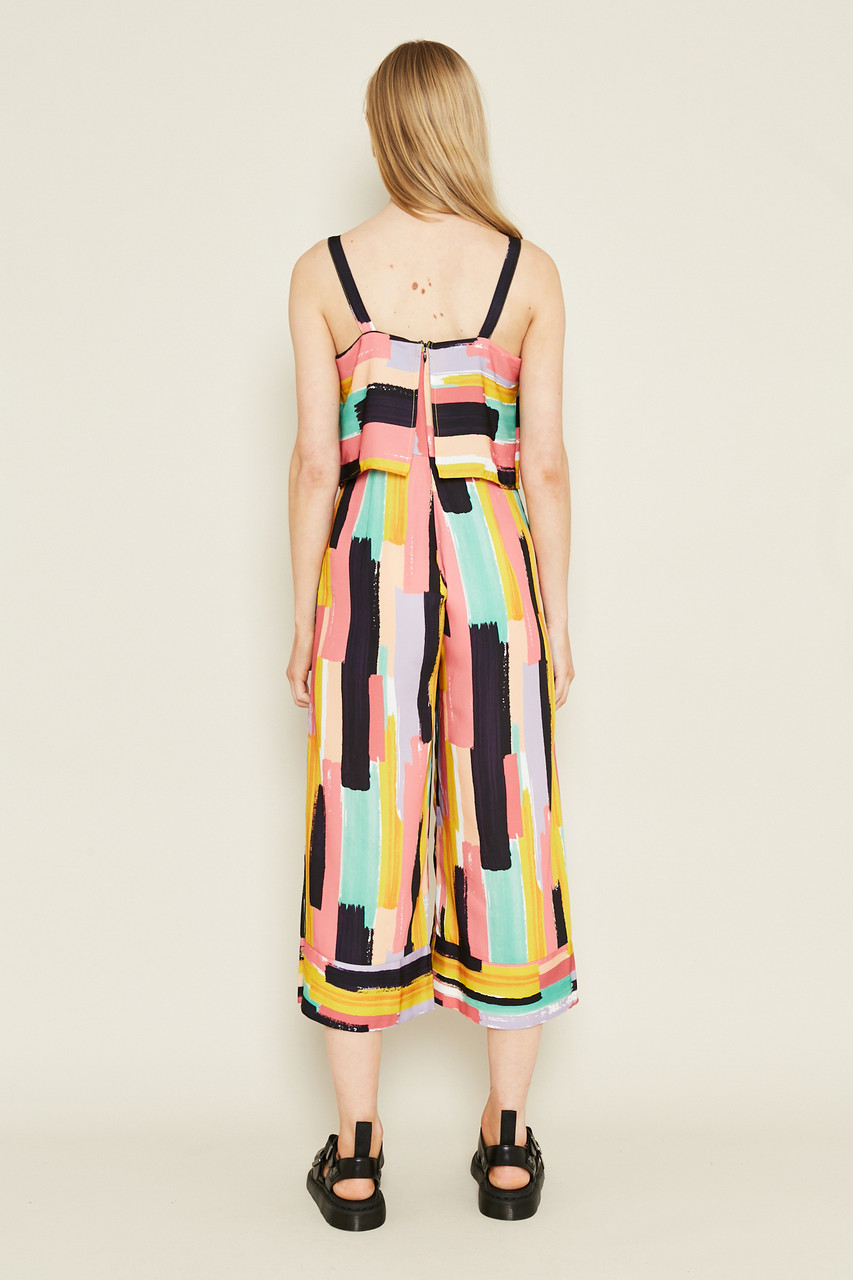 Strappy Jumpsuit With Overlay Bodice Panel