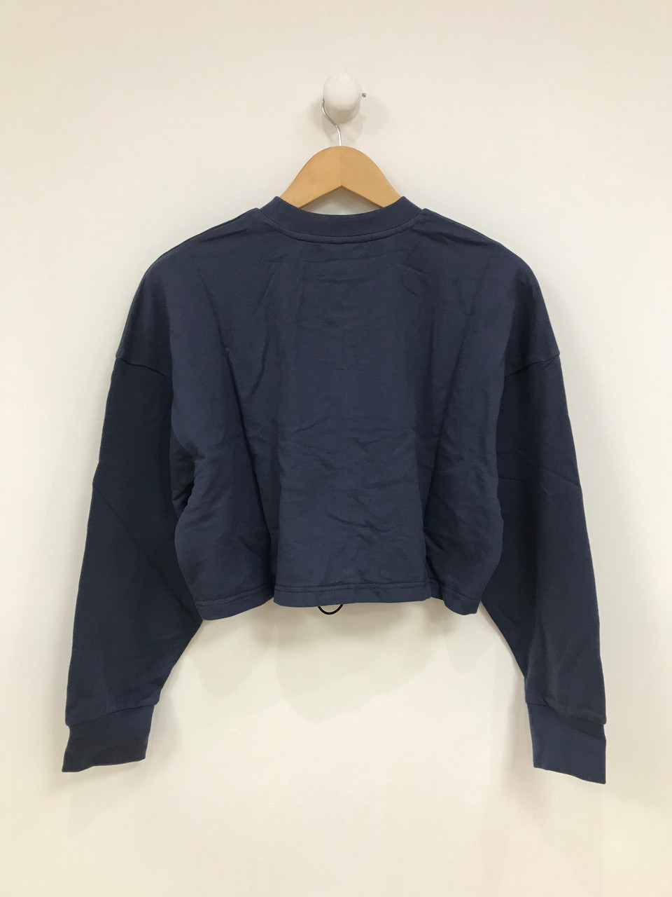 Blue Ruched Front Sweater