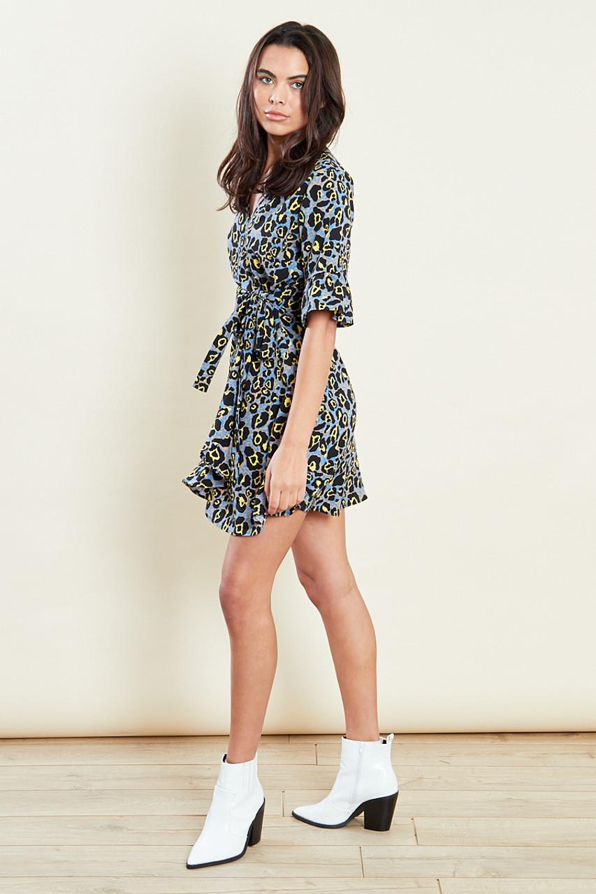 Multi Wrap Frill Mini Dress