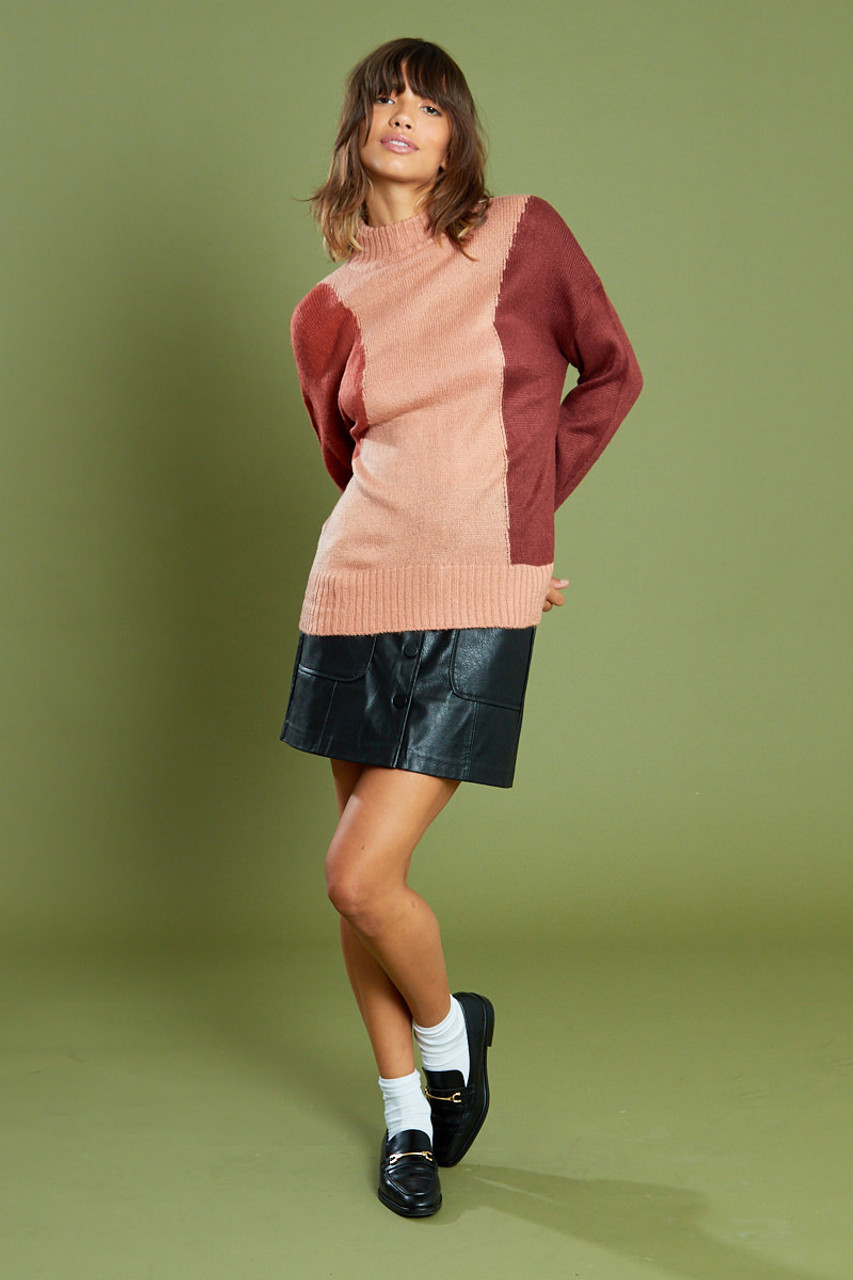 Roll Neck Jumper With Wide Sleeves