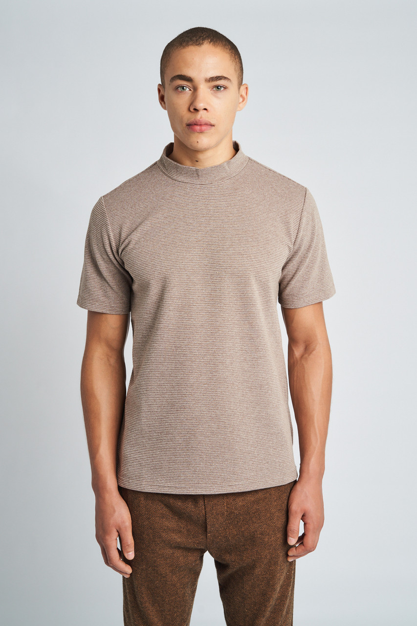 Adrian High Neck Short Sleeve T-Shirt