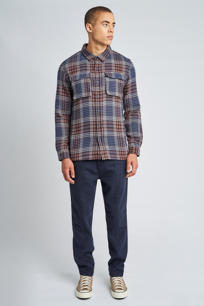 Blue Chase Check Overshirt