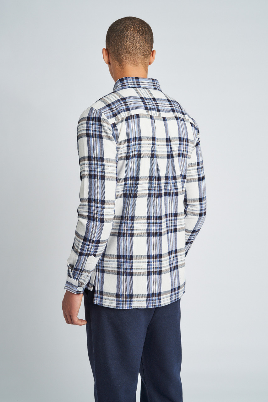 Blue Greyson Check Overshirt