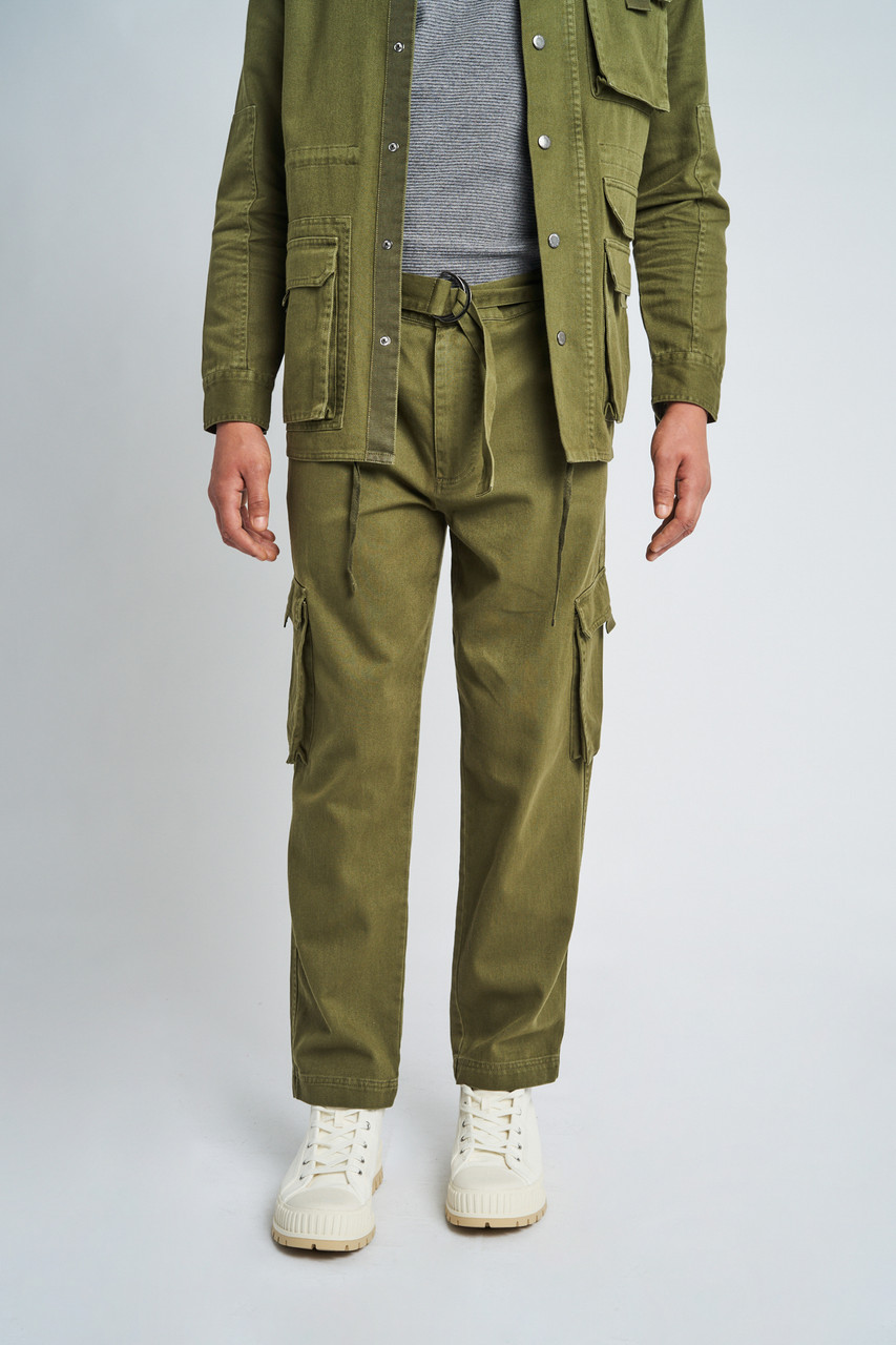 Eli Washed Cotton Cargo Pocket Trouser