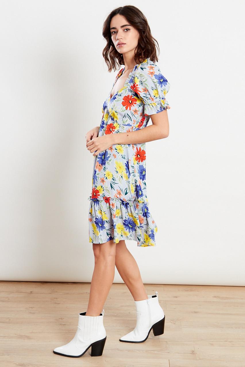Floral Skater Mini Dress