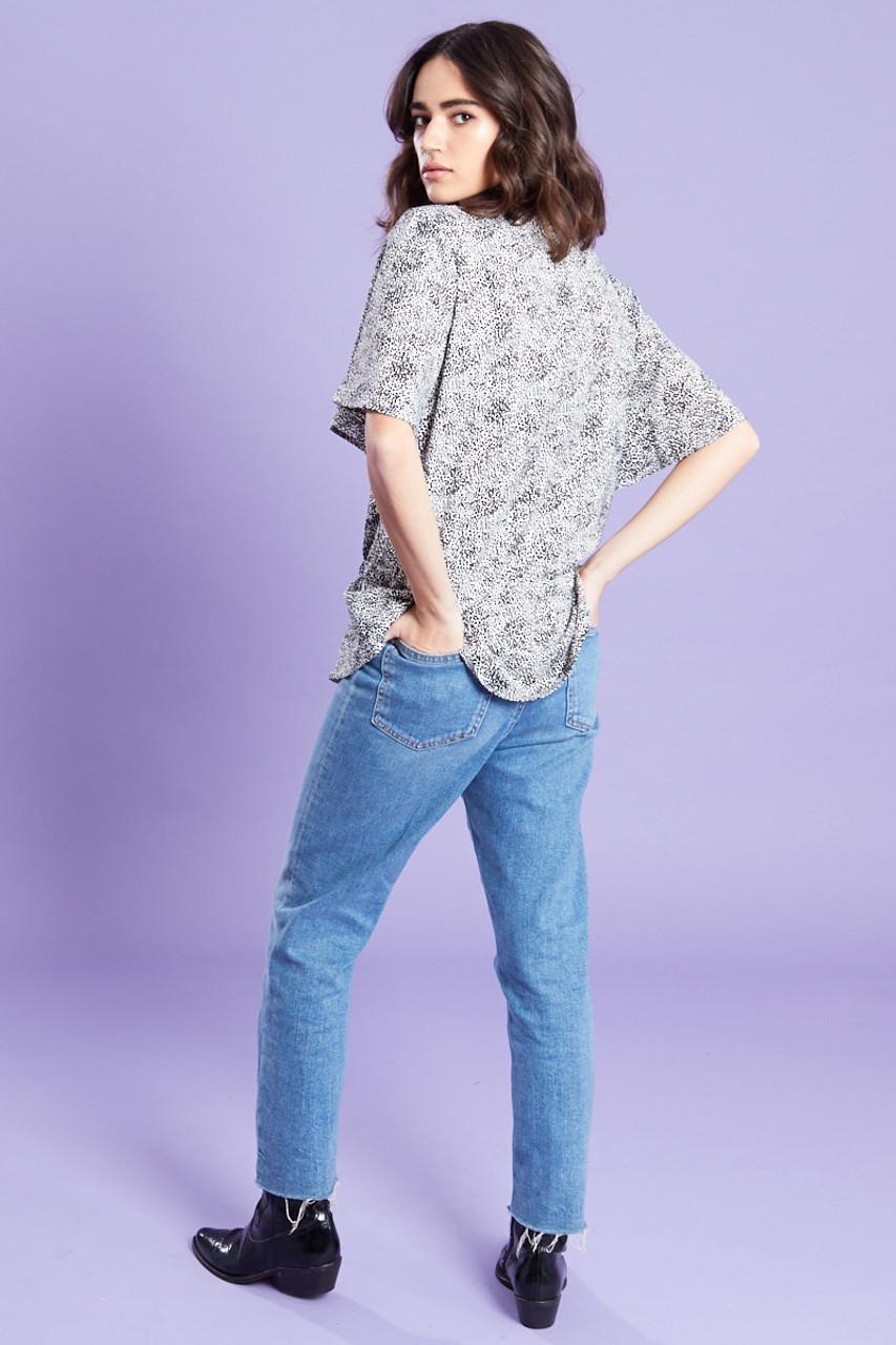 Drawcord Waist Shirt