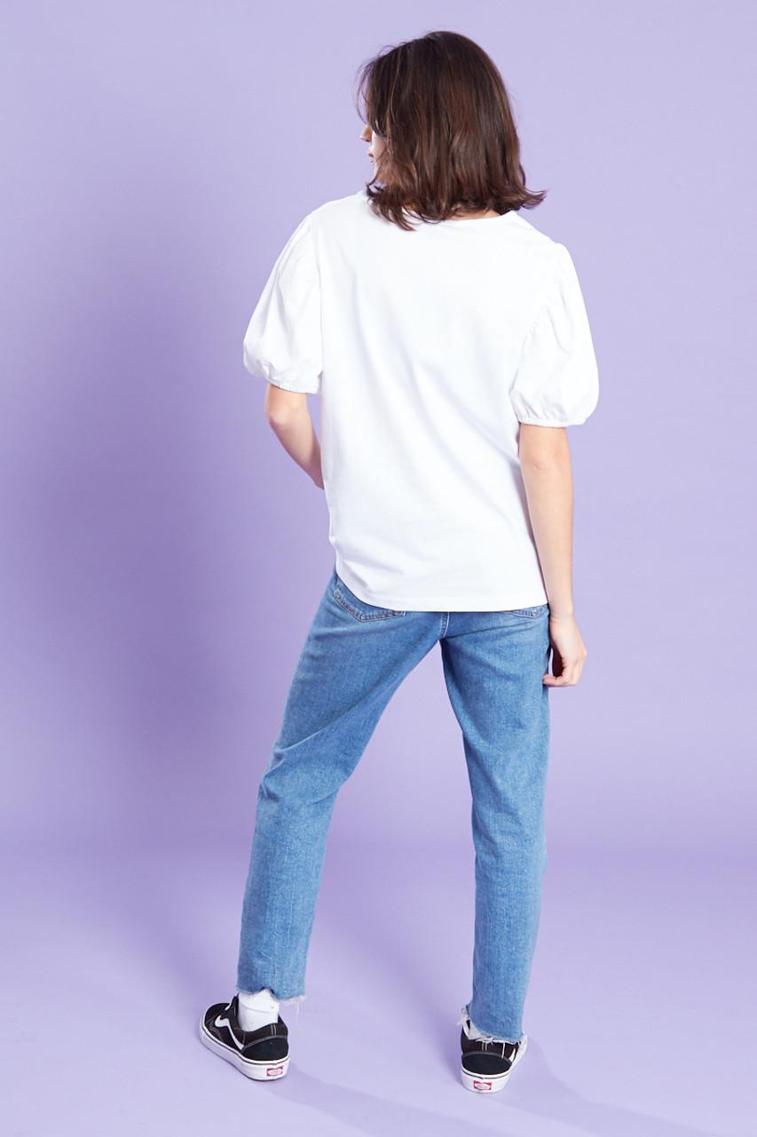 Puff Sleeves Printed T-Shirt