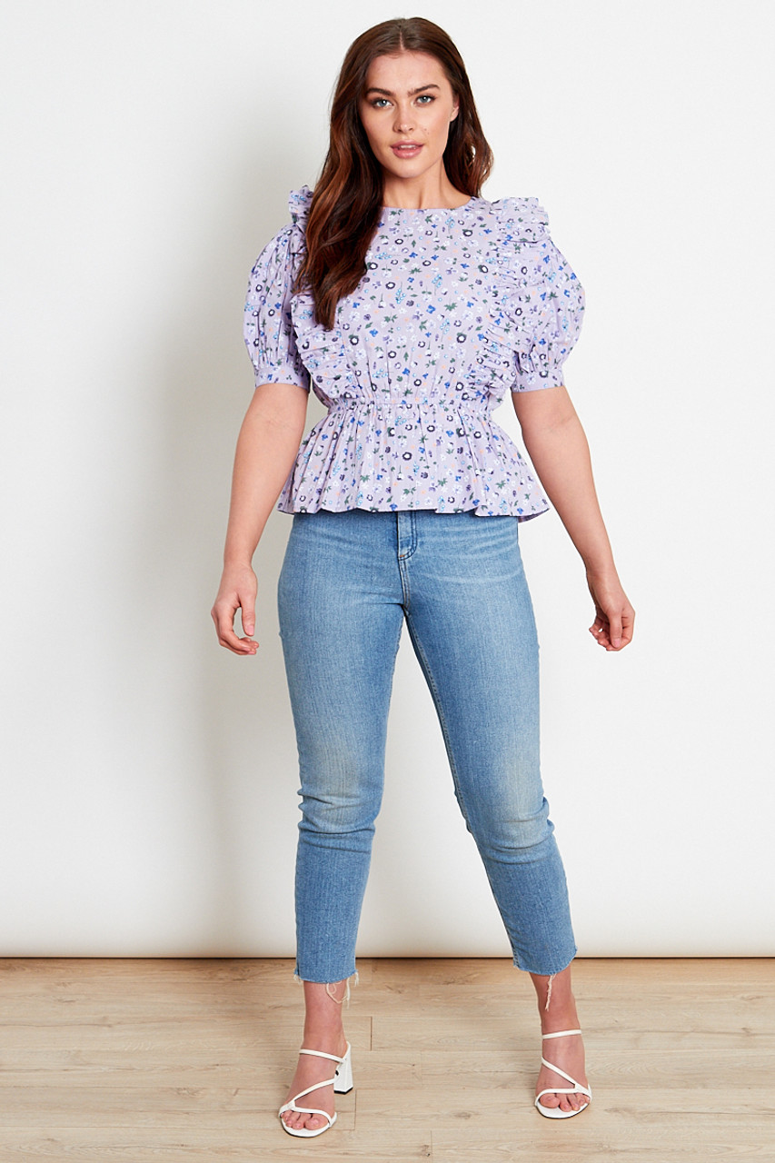 Lilac Ditsy Cotton Top
