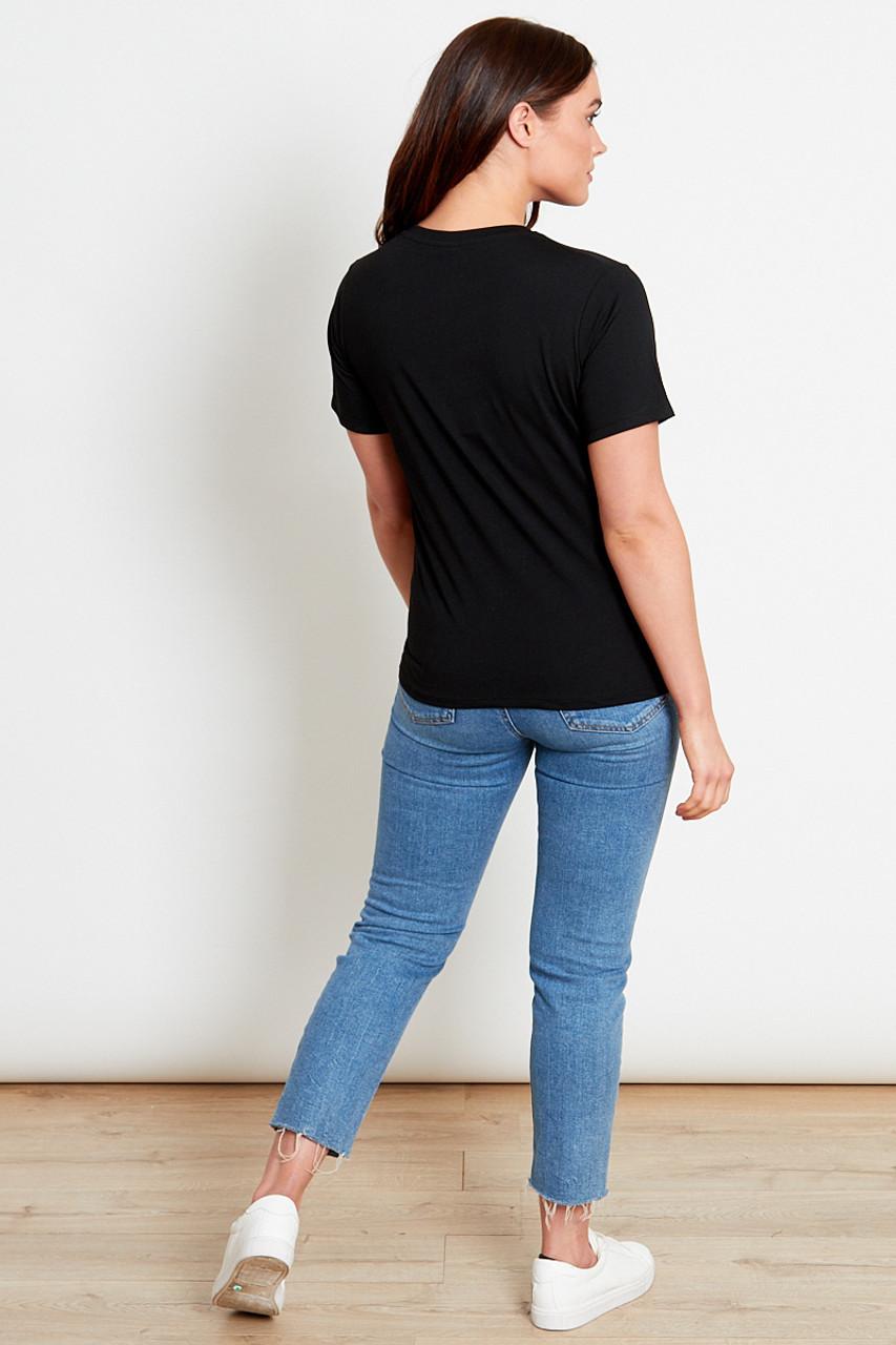 Black Slogan T-Shirt