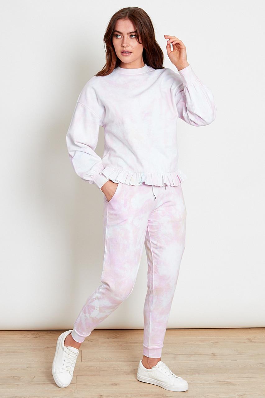 Pink Tie Dye Swear Shirt