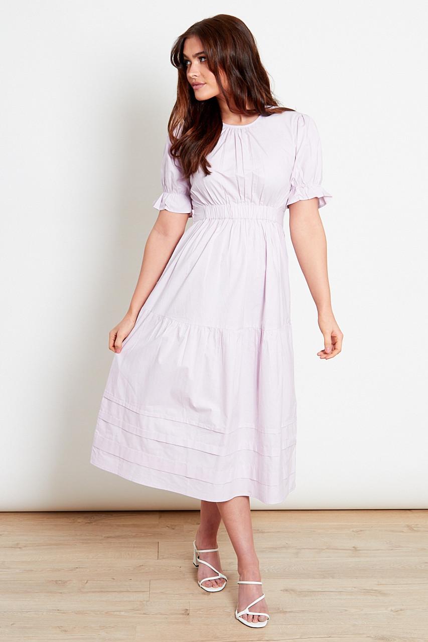 Lilac Cotton Midi Dress