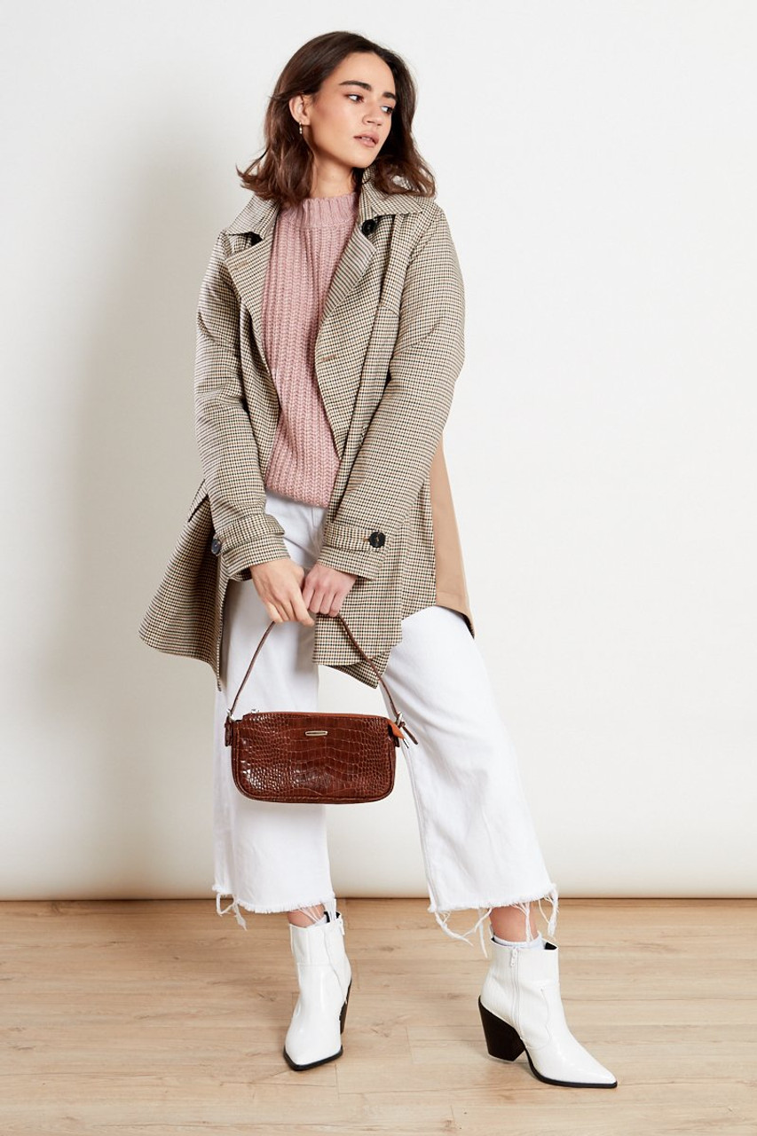 Checked Trench Jacket