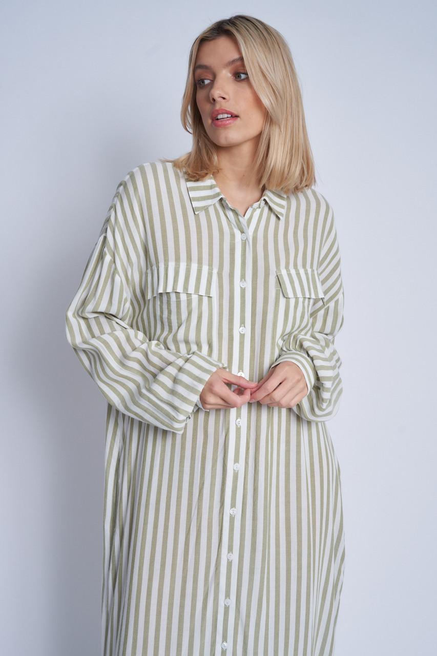 Loose Fit Long Lne Maxi Button Down Shirt Dress