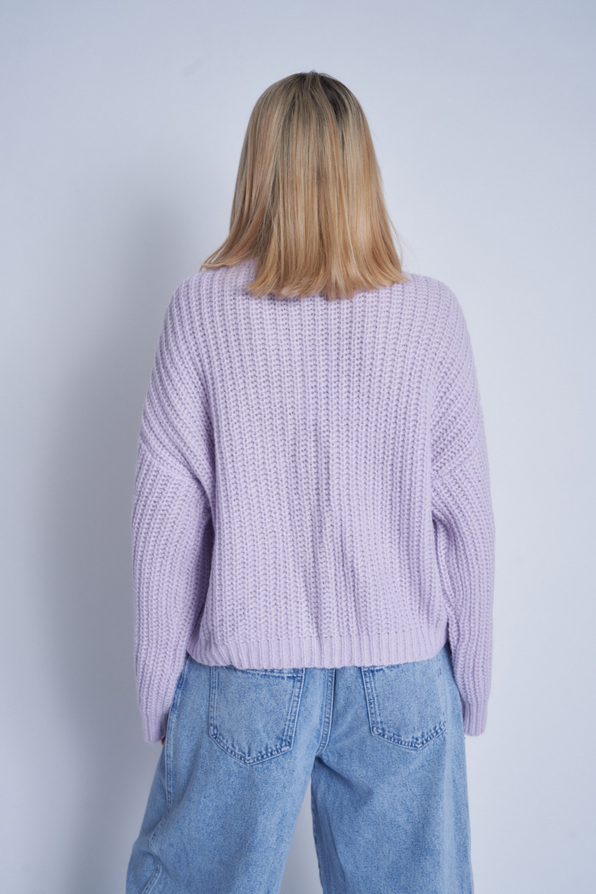 Chunky Knitted Cardigan With Statement Buttons Down Cf