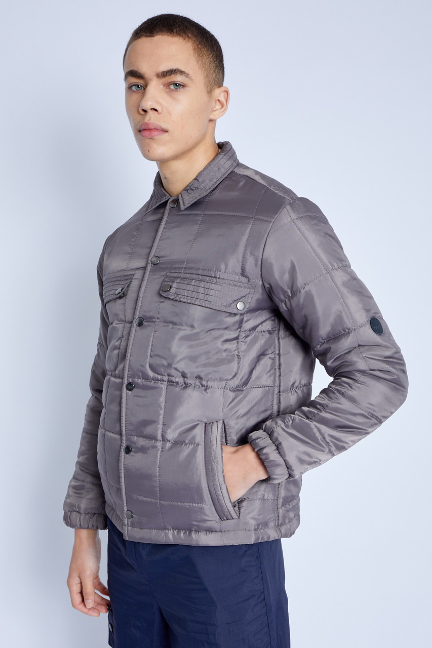 Padded Jacket With Judo Stitch And Patch Pocket