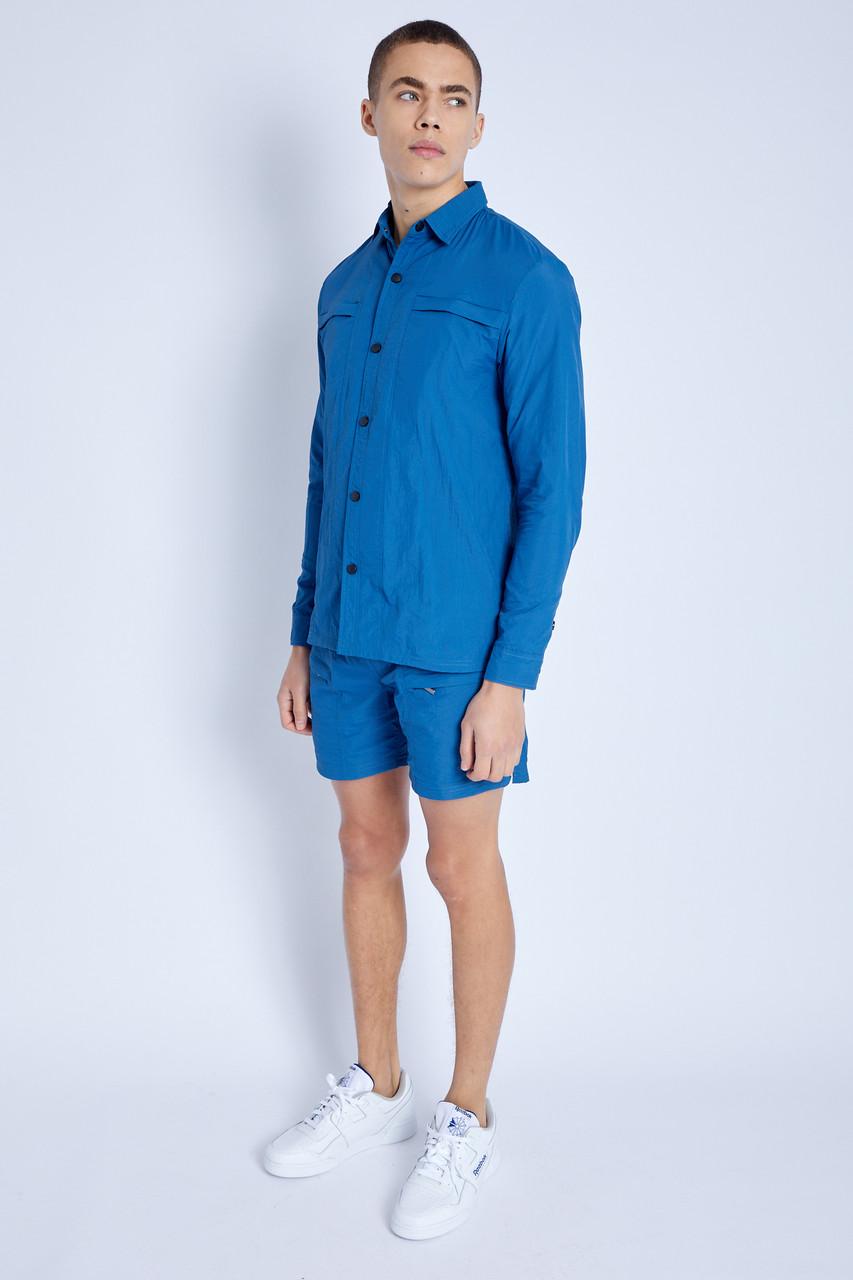 Nylon Shorts With Zip Pockets