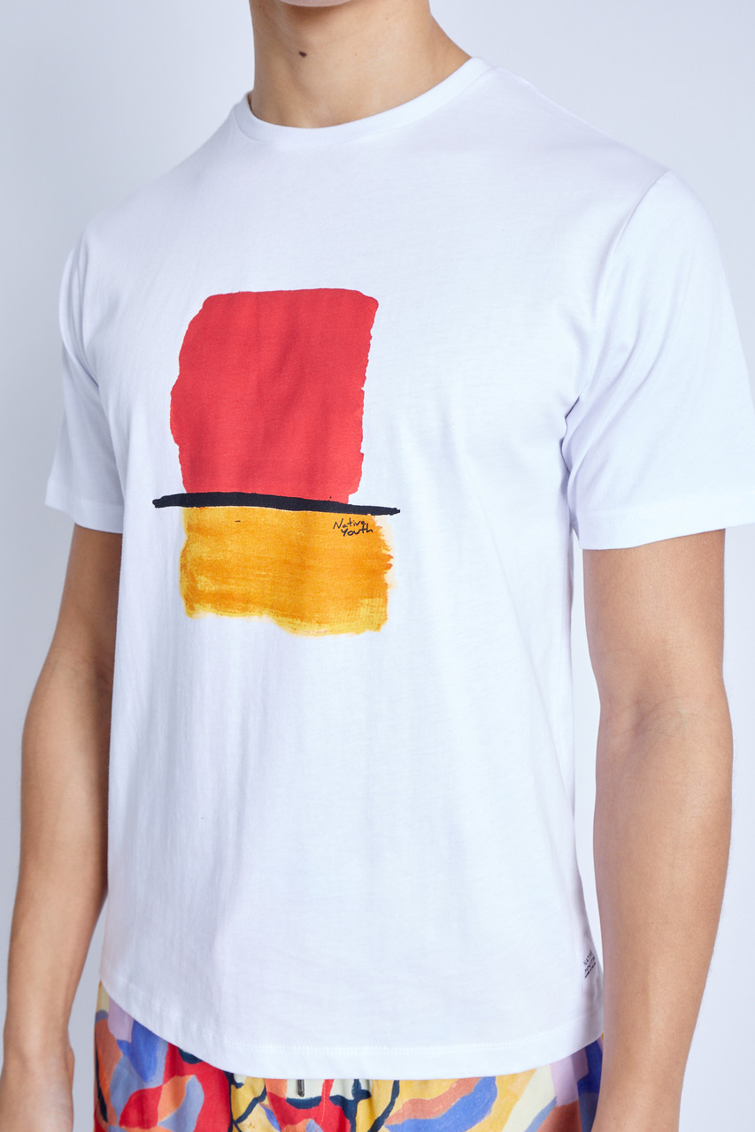 S/S T-Shirt With Paint Brush Graphic