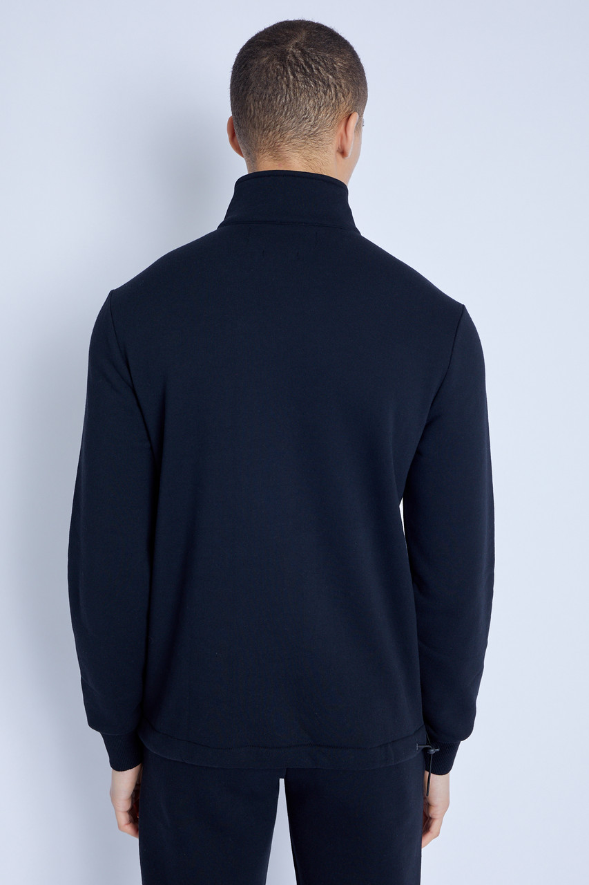 Sweatshirt With 3/4 Zip And Utility Details