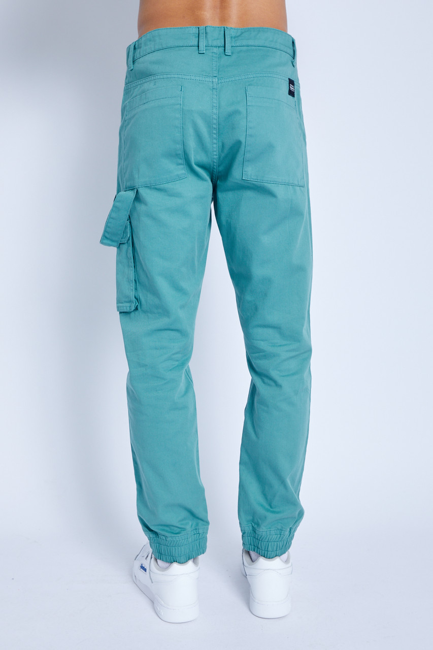 Trouser In Washed Cotton With Utility Detail