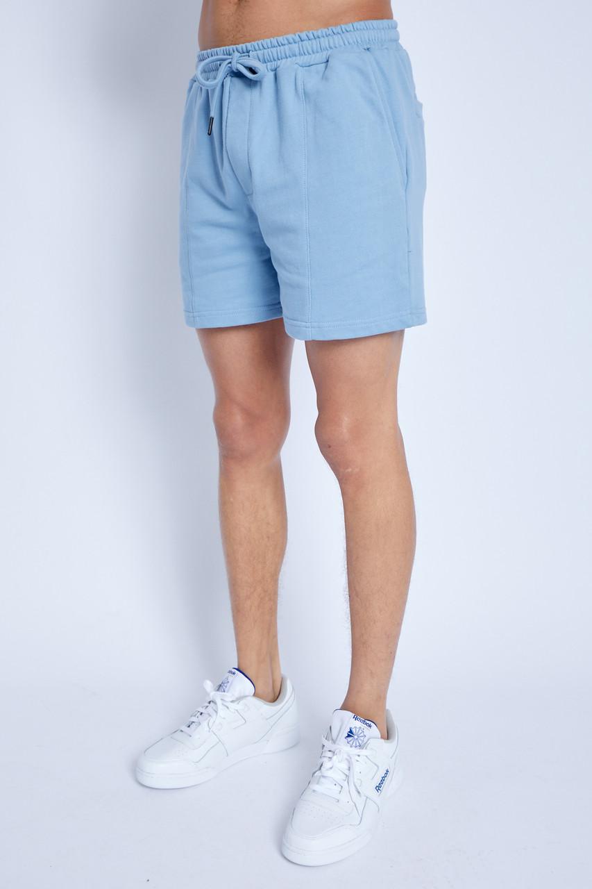 Kanuka Sky Blue Short With Pin Tuck