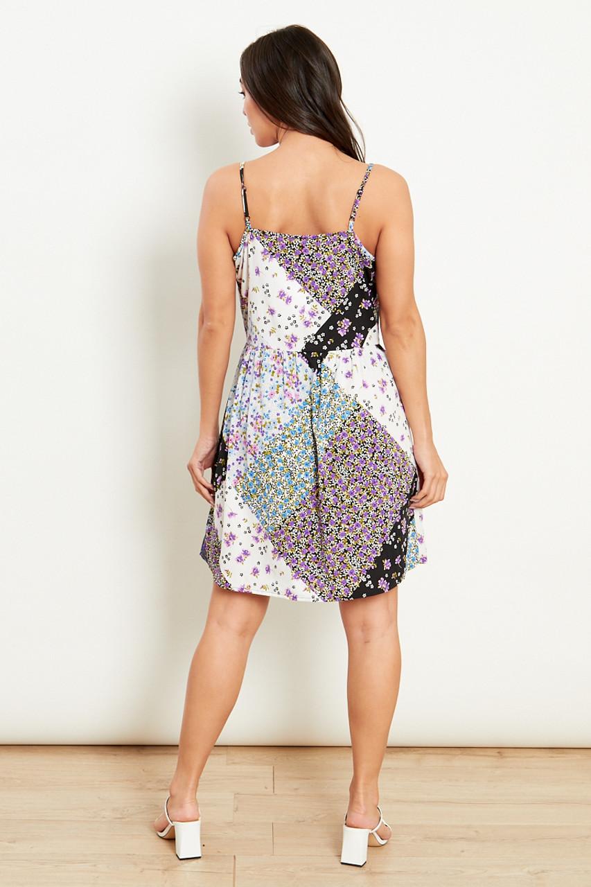 Black Strappy Smock Mini Dress