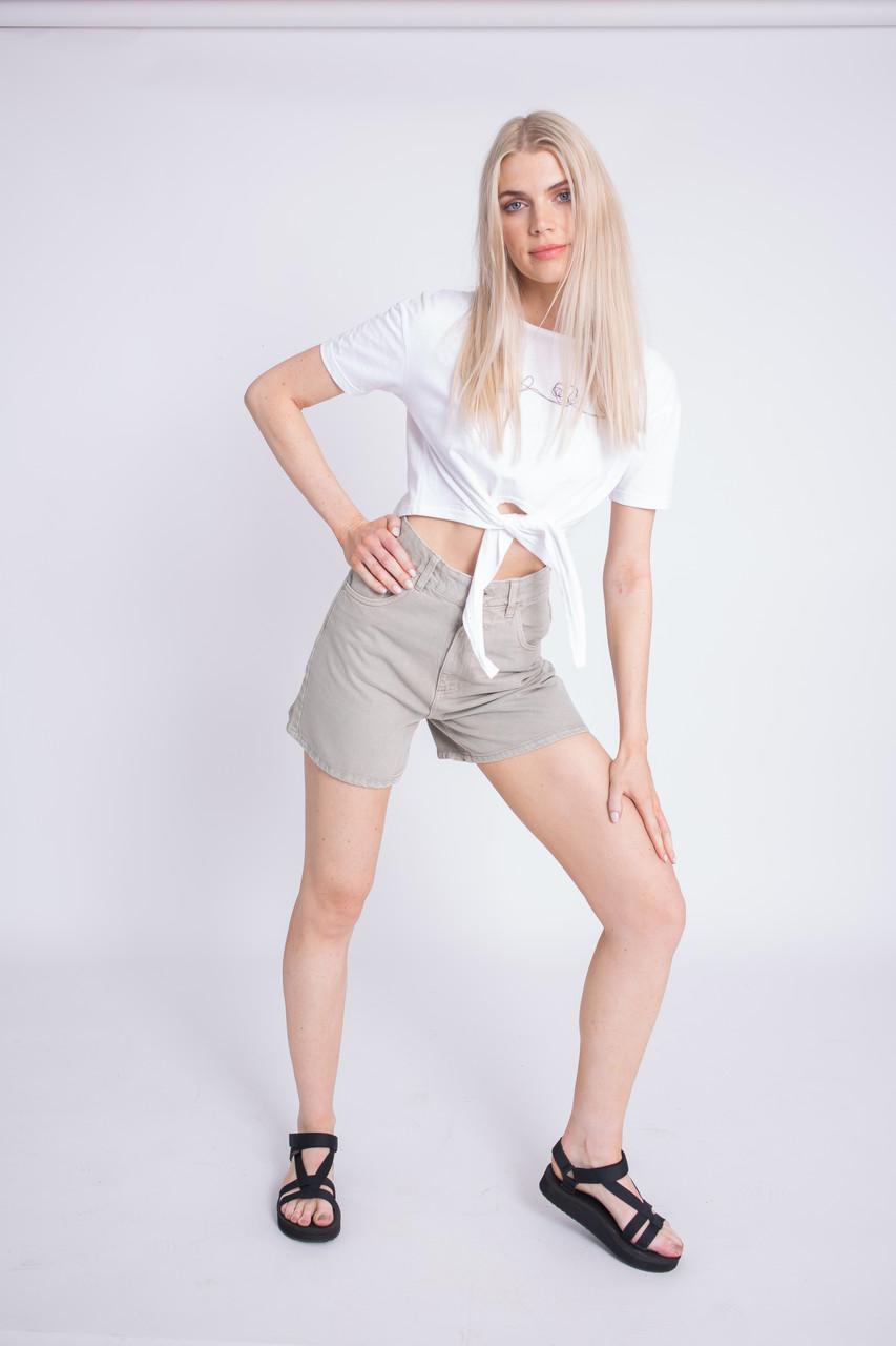 Stone Denim Shorts