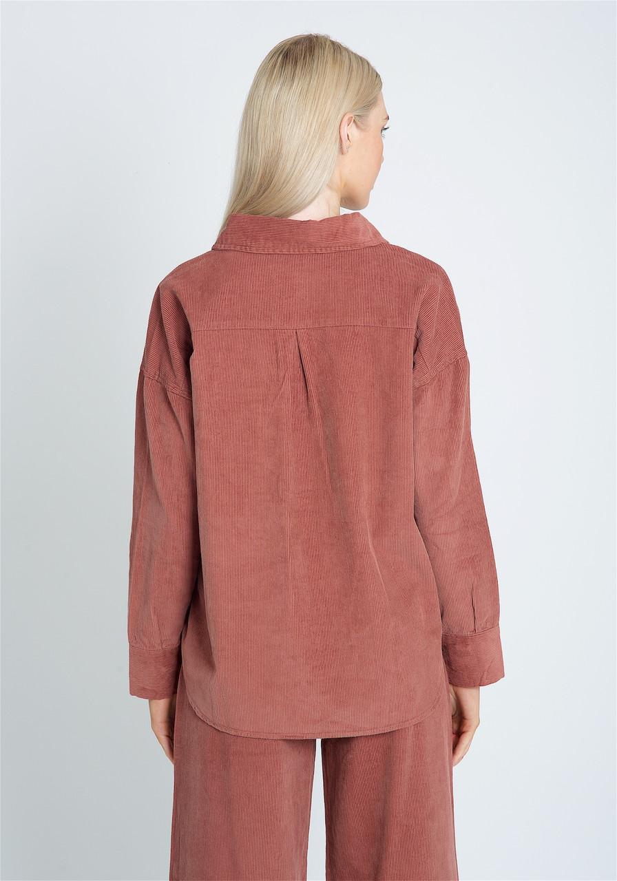 Premium Cotton Oversized Shirt With Button Down Fastening