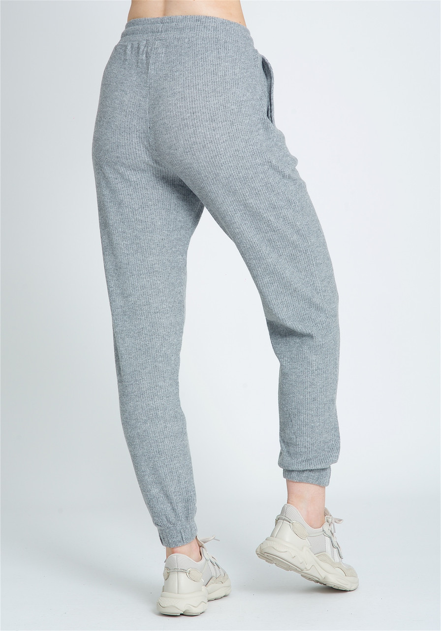 Soft Brushed Jersey In Wide Leg Draw Cord Sweat Pant