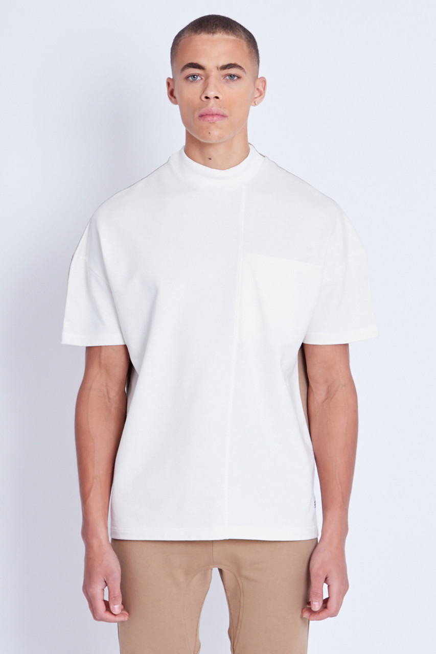 Split T-Shirt With High Neck