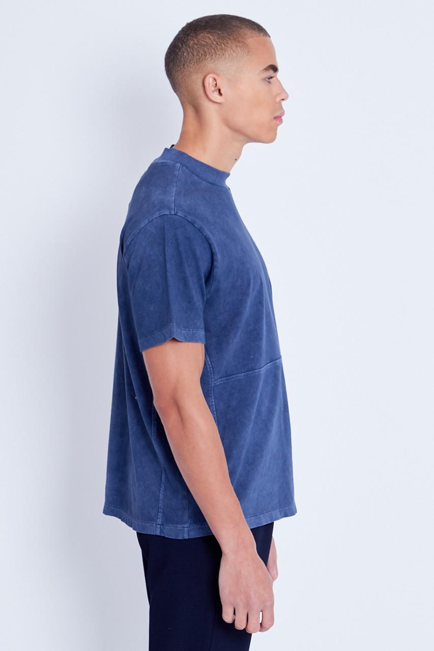 Seam Detail T-Shirt In Heavy Wash