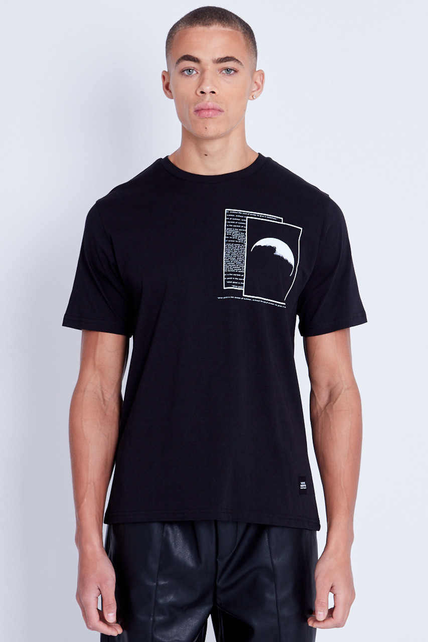 Branded T-Shirt With Chest Moon Print