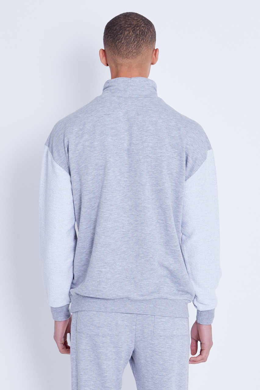 Funnel Neck Hoodie With Reverse Sleeves