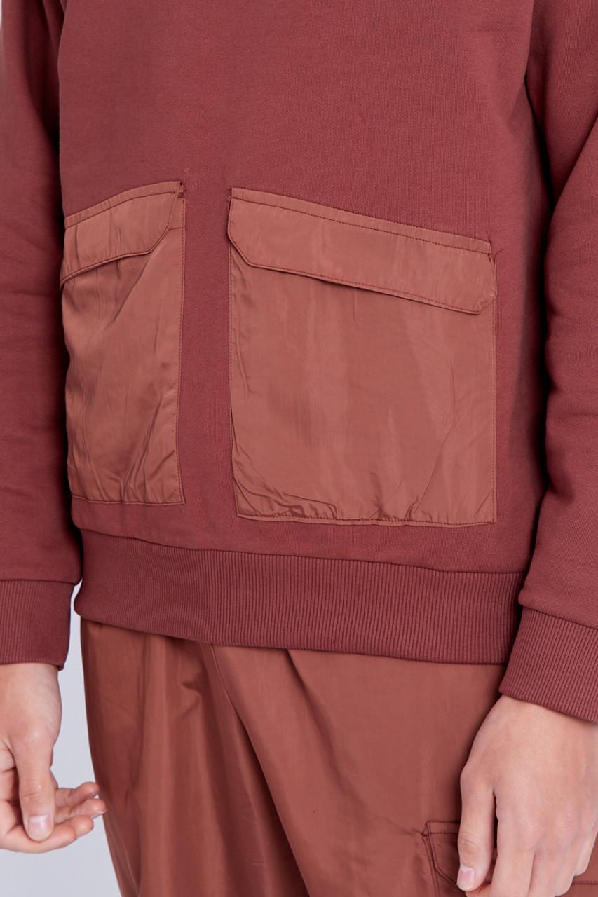 Heavy Weight Sweatshirt With Nylon Pockets