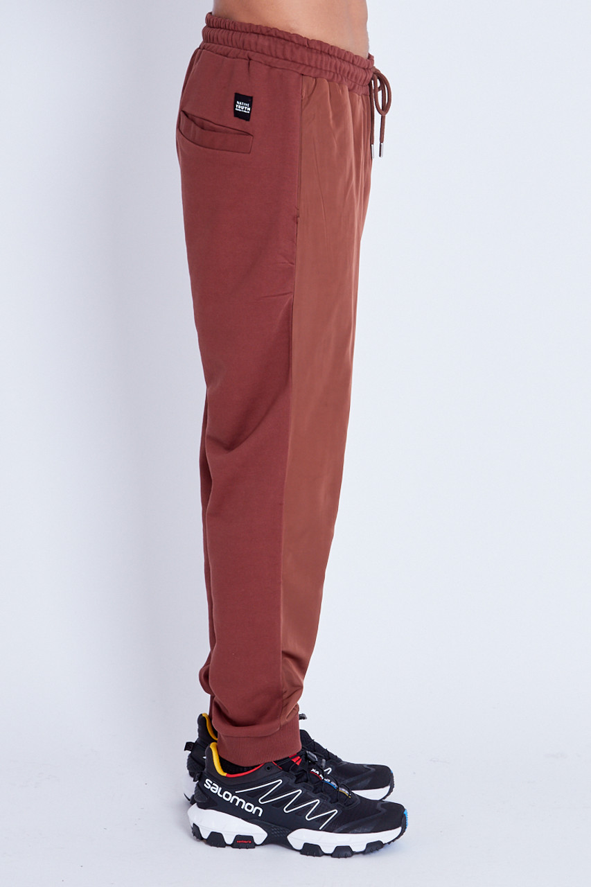 Jogger with Nylon Front And Jersey Back